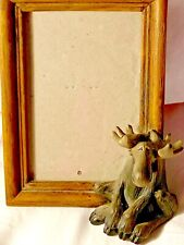 Reduced! Big Sky Moose w/ Frame Excellent Condition Rare Bare Foots collectible