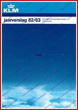 ANNUAL REPORT - KLM ROYAL DUTCH AIRLINES 1982-1983 - DUTCH