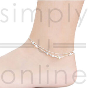Sexy Silver Star Anklet Ankle Chain Bracelet Beach Holiday Jewellery
