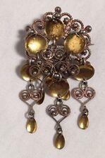Vintage Solje Finn Jensen Norway Silver Gold Vermeil Bunad Pin Brooch 925 12.4g
