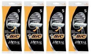 BIC Metal Disposable Mens Shaving Razors, 5 Count (Pack of 4)
