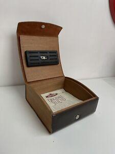 Scatola Sigari Toscano Originale Humidor Legno Tabacco Pipa Vintage