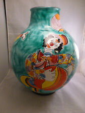 "LARGE Desimone "" STYLE""  Vase    POTTERY      VERY LARGE  15 ""  TALL APPROX"