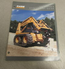 Case Skid Steer Attachment Guide Specifications Brochure Manual Ce 027 6 96