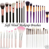 12PCS Soft Wool Makeup Brush Set Pro Powder Blusher Eye Shadow Make Up Brushes