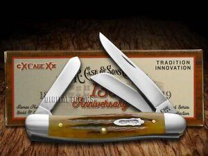 Case xx 130th Anniv Medium Stockman Knife 23410 Golden Aged Antique Bone 1/1000