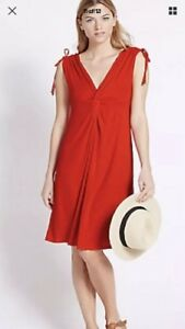 M&S red beachwear holiday swimsuit cover up dress BNWT size 18 knot bustline Fpp