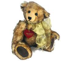 "Fancy Turnout teddy bear brown tipped mohair  Barnabus 11"" Marta Weller L"