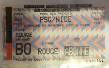 TICKET / BILLET PSG-NICE 05/11/1995 D1 paris saint germain sg