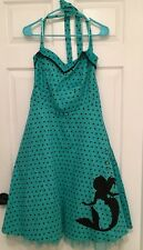 NWT DISNEY  LITTLE MERMAID DRESS WOMENS PLUS SIZE 12 SEAFOAM GREEN BLACK SHELLS