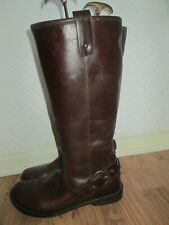Hush Puppies Chocolate Brown Leather Boots.....  UK 7