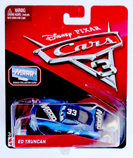 DISNEY PIXAR CARS 3 ED TRUNCAN  2017 WITH BONUS COLLECTOR CARD AND STAND