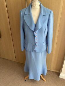 Fab FRANK USHER Blue smart Jacket & dress set size 14