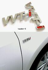 3D Chrome VVTI Emblem Fender Side Badge Metal Sticker Decal Fit Japan Car