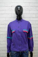 Camicia LUISA SPAGNOLI Donna Taglia M Maglia Shirt Woman Cotone Viola Vintage