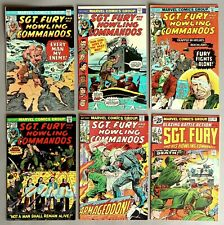 6x Marvel Comics Sgt. Fury and his Howling Commandos US Comics 70er years #A-806
