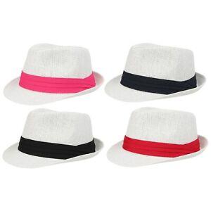 Ladies Mens Sun Hat Trilby Womens Straw Panama U.V NEW Size Festival Holiday Cap