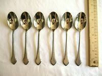 WM A ROGERS Deluxe Stainless Oneida SUMMER MIST AUTUMN GLOW 6x Table Soup Spoon