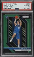 2018 Panini Prizm Green Luka Doncic ROOKIE RC #280 PSA 10 GEM MINT