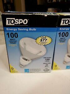 TOSPO - 4 Pack 100-Watt Replacement Light Output 1300 Lumens Bulb Energy Saving