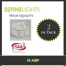 10 Amp Ip53 Single GPO Weatherproof Power Point Socket SAA Approved