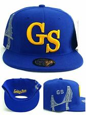 Golden State New Leader Bridge Skyline Warriors Blue Gold Era Snapback Hat Cap