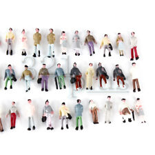 100 pcs. 1:220 Scaled Figures Z Gauge Model Trains Supplies Standing Male Female