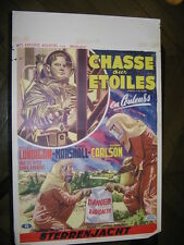 LA CHASSE AUX ETOILES RIDERS OF THE STARS 1954 BELGIAN POSTER AFFICHE ANCIENNE