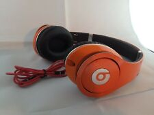 Used Original Monster Beats by Dr Dre STUDIO Earphones Headphones ORANGE Genuine