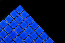 Crystal glass mosaic tiles - #594 Royal blue - Pool / waterline / Feature walls