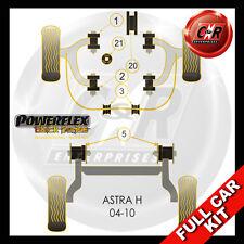 Vauxhall Astra MK5 (04-10) Powerflex Black Complete Bush Kit 2.0L Models inc VXR