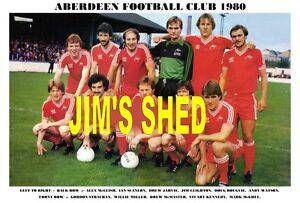 ABERDEEN F.C.TEAM PRINT 1980 (McLEISH/McGHEE/STRACHAN/LEIGHTON)