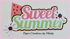 CRAFTECAFE MINDY SWEET SUMMER premade paper piecing TITLE  scrapbook diecut