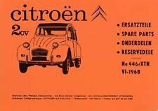 CITROEN 2 CV 1968 parts manual  book paper car
