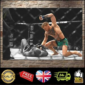CONOR McGREGOR JOSE ALDO UFC 194 MMA BOX Canvas Print Wall Art Poster Photo