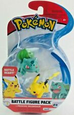 Pokemon PIKACHU + BULBASAUR Deluxe Edition Battle Figure ~ Wicked Cool Toys