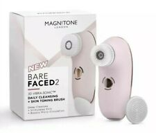 Magnitone London BareFaced 2,3D VibraSonic Facial Cleansing Brush Pink New Rr£90