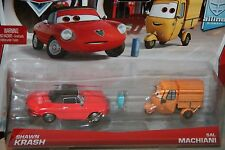 "DISNEY PIXAR CARS ""2 PACK SHAWN KRASH AND SAL MACHIANI W/ ALLINOL FUEL CAN"""