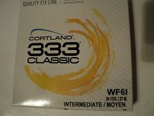 1- Box Cortland 333 Classic Wf-6-I Fly Line (Nip) Only 3 Boxes Left