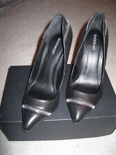 New (Other) ShoeMint Cleo Women's Black Heels with Zipper Detail US Size 10