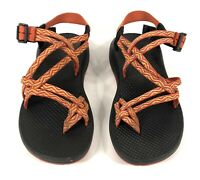 Chacos Womens ZX2 Sport Vibram Sole Double Strap Sandals Toe Loop Orange Black 8