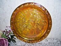 Marigold Carnival Glass Plate Spirit of '76 Patriotic Fife and Drum 1776 - 1976