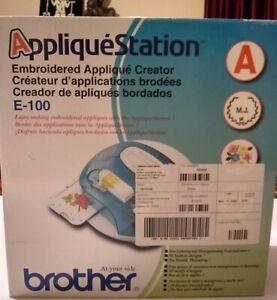 Brother Applique Station E100 Embroidery Applique Creator 50 Designs NIB