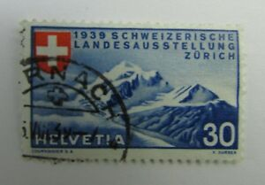 1939 Switzerland SC #252 ALPINE SCENERY RED CROSS  Used stamp