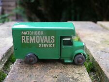 MATCHBOX LESNEY MOKO 17 a BEDFORD REMOVALS VERT CLAIR COMME NEUF sans boite
