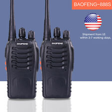 2PCS Baofeng BF-888S Walkie Talkie Handheld for UHF 400-470MHz Two Way Radio