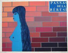 """Felix Labisse Original color lithograph S/N. Ltd. Ed.   """" PASSAGE DE LA BÉRÉSINA"""