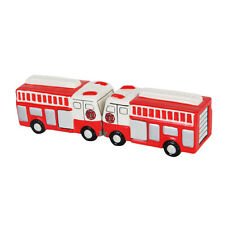 Fire Trucks Ceramic Salt & Pepper Shakers Set.Fireman Firefighter Collectible