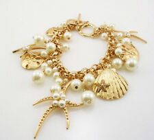 "Joan Rivers Star Fish Charm adjustable Toggle  Bracelet 7"" to 8"" Gold tone"