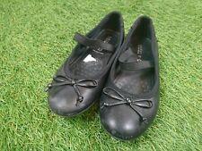 Girls Geox Size UK 13.5 Euro 32 Black Leather Mary Jane Flat Ballet School Shoes